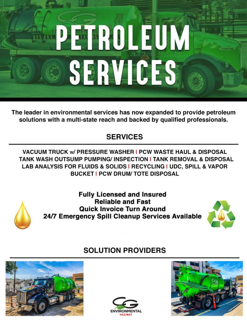 Petroleum Services in Texas and Colorado